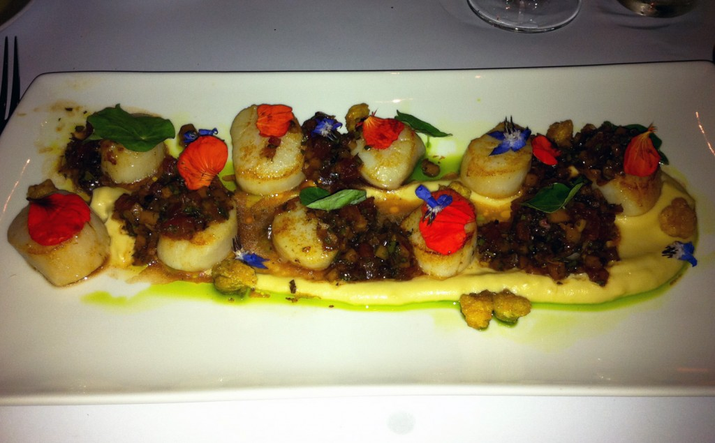 Scallops at Glass Brasserie