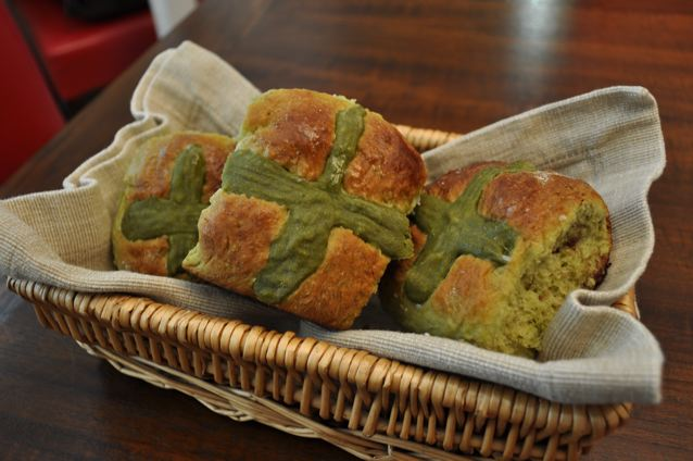 Green Tea Hot Cross Buns