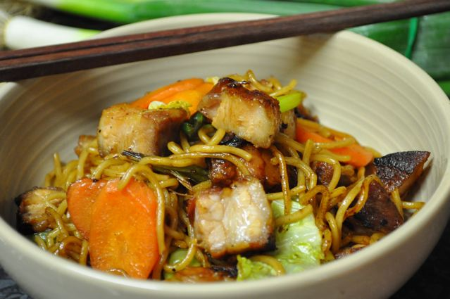 Pork Belly Yakisoba Noodles