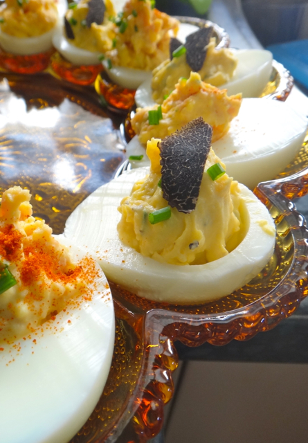 Black Truffle Devilled Eggs