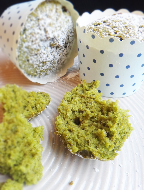 Spinach & Green Tea Cupcakes