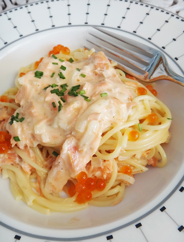 Creamy Pasta with Smoked Ocean Trout