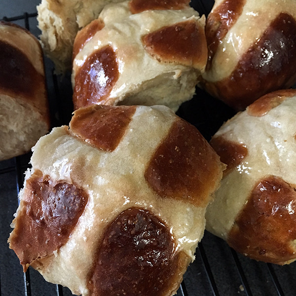 Chai Apple Hot Cross Buns